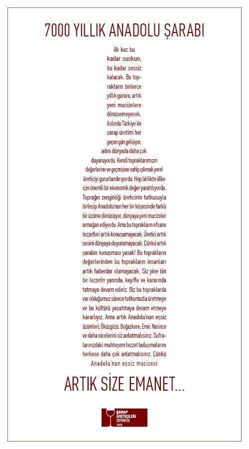 Anadolu Sarabi Artik Size Emanet
