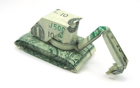 kepçe-origami-para-sanati