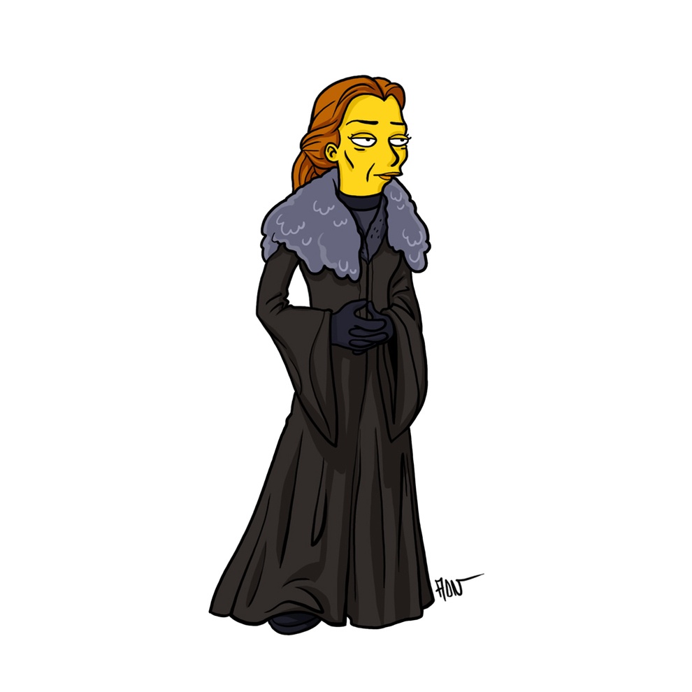 game-of-thrones-cizim-karikatur-simpsons-catelyn-stark