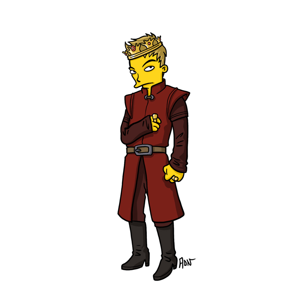 game-of-thrones-cizim-karikatur-simpsons-joffrey-baratheon