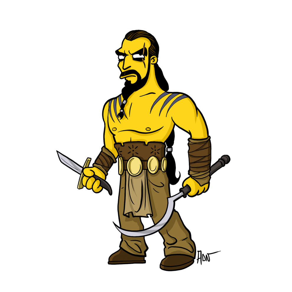 game-of-thrones-cizim-karikatur-simpsons-khal-drogo