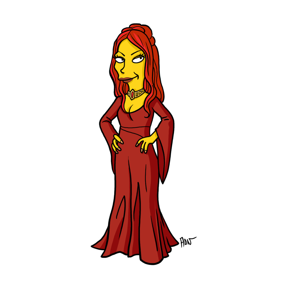 game-of-thrones-cizim-karikatur-simpsons-melisandre