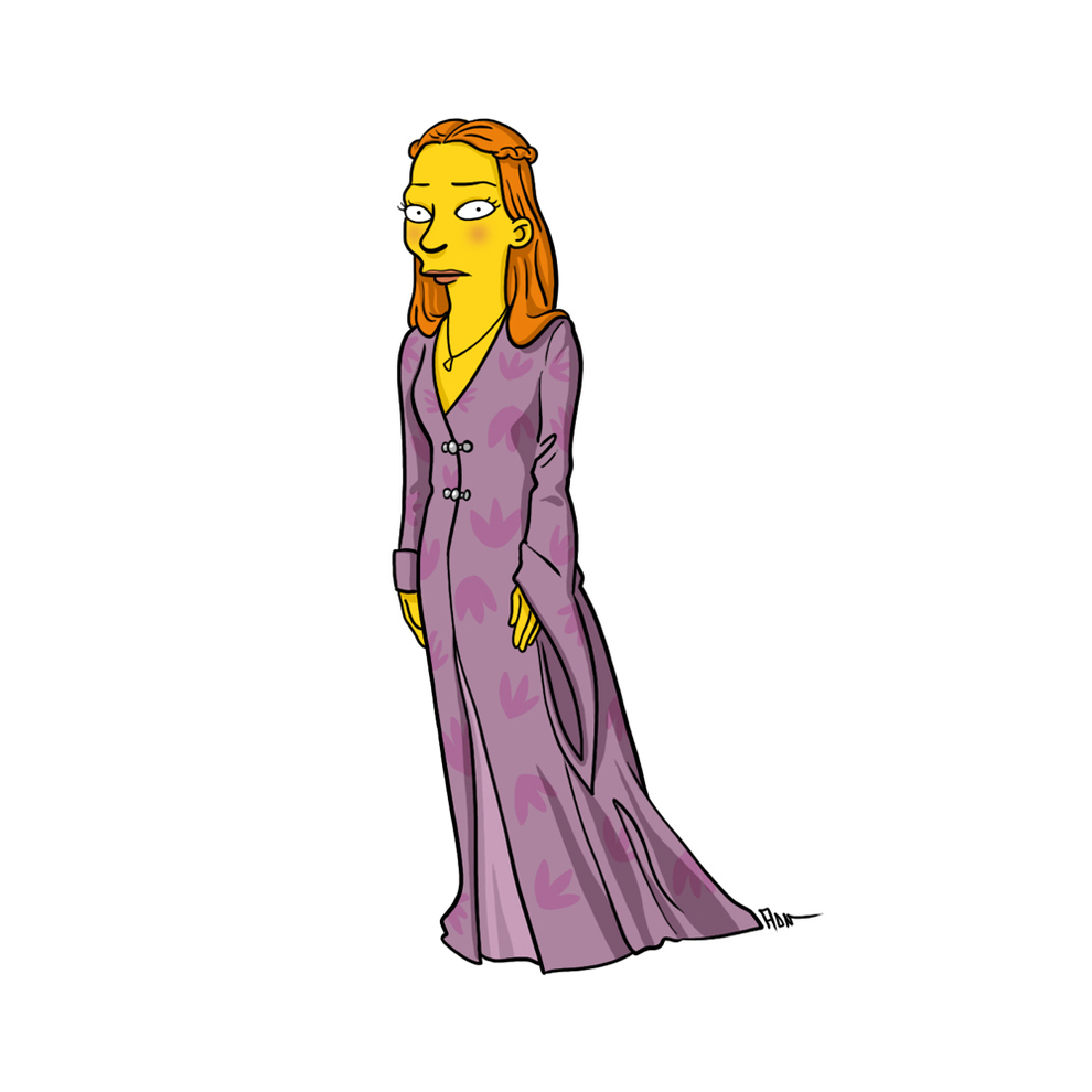 game-of-thrones-cizim-karikatur-simpsons-sansa-stark