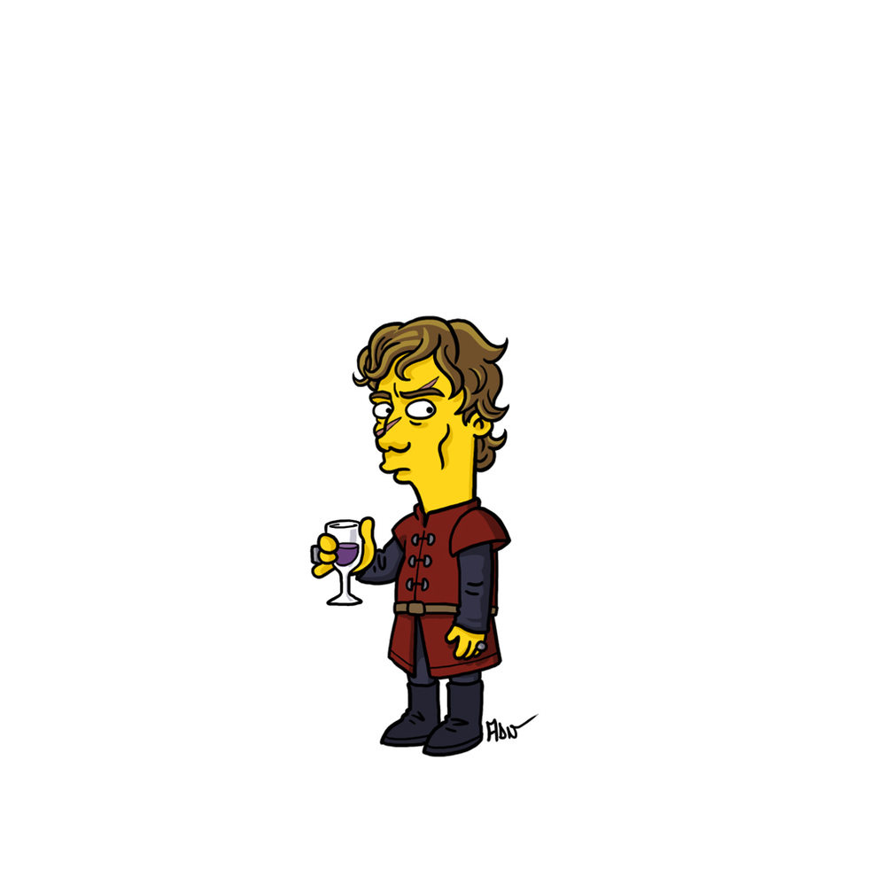 game-of-thrones-cizim-karikatur-simpsons-tyrion-lannister