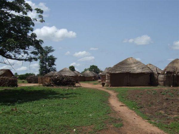 Ghana village scene