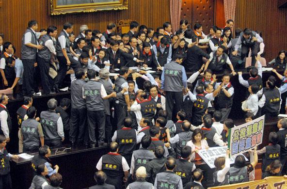 Taiwan Legislature Brawl