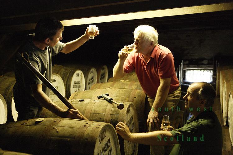 Nosing at Bladnoch Whisky Distillery