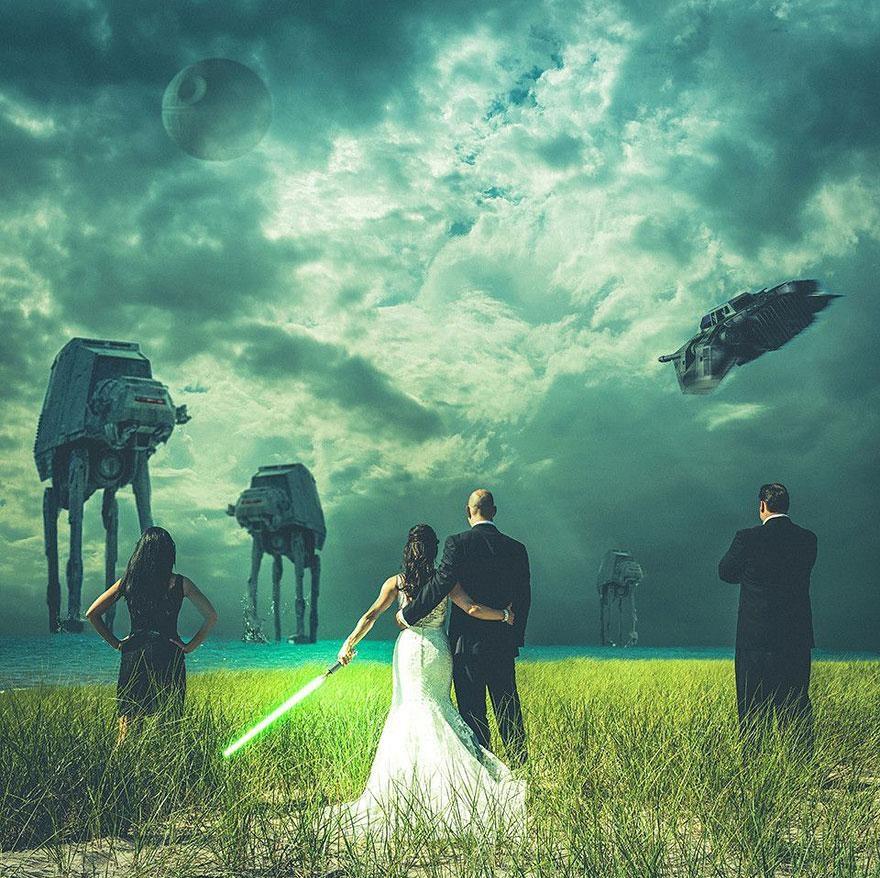 Yaratıcı düğün fotoğrafları (4)