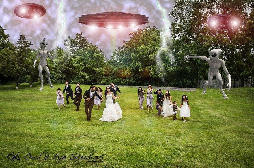 Yaratıcı düğün fotoğrafları (5)