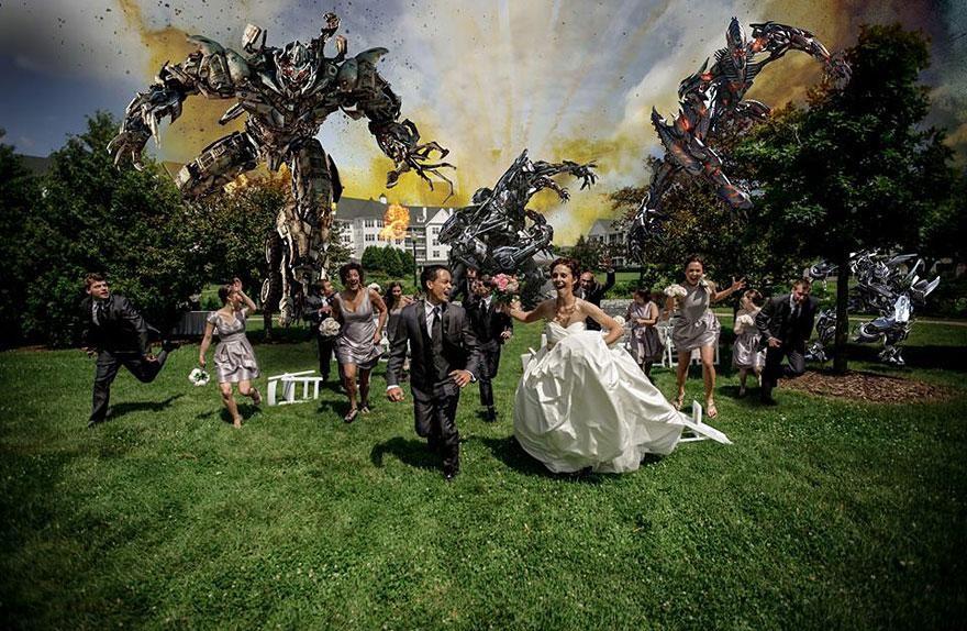 Yaratıcı düğün fotoğrafları (6)