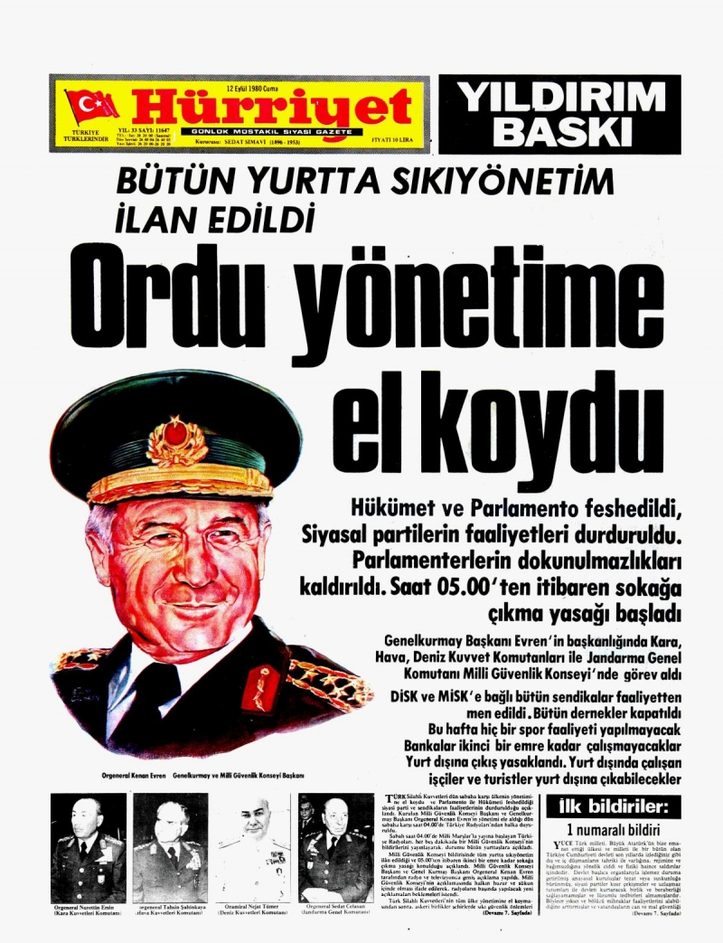 12-eylul-1980-manset-ordu-yonetime-el-koydu