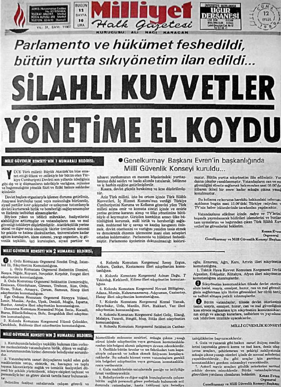 12-eylul-1980-milliyet-manset-silahli-kuvvetler