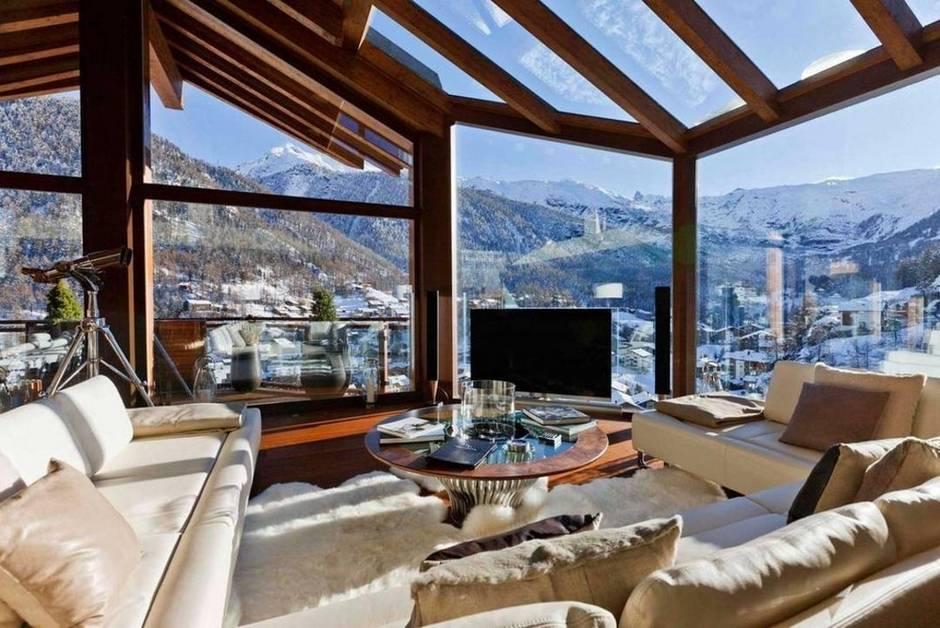 kış manzaralı ev