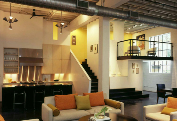 loft-dizayn-acik-mutfak