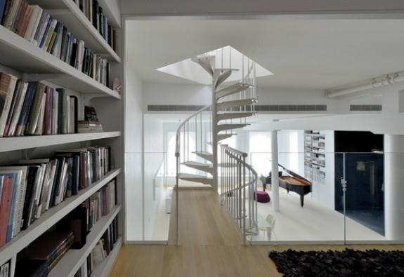 loft-dizayn-kutuphane