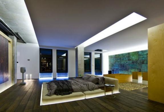 loft-dizayn-yatak-odasi