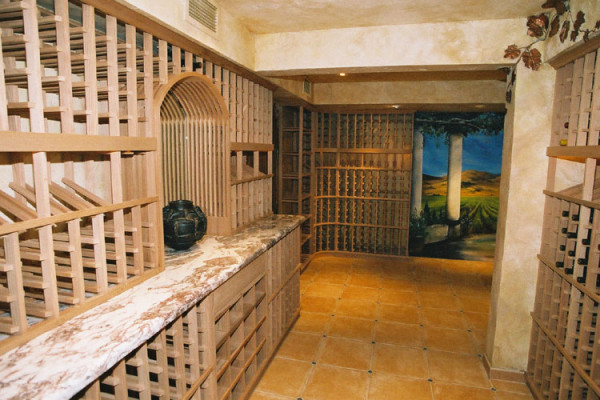 özel tasarım şarap mahzeni