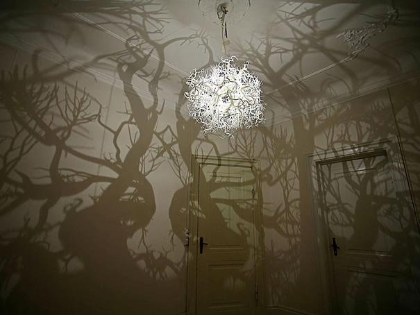 ağaç desenli lamba