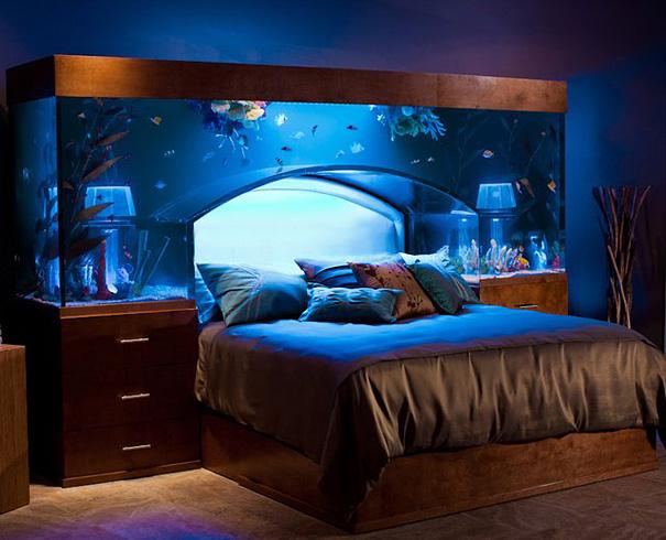 akvaryumlu yatak