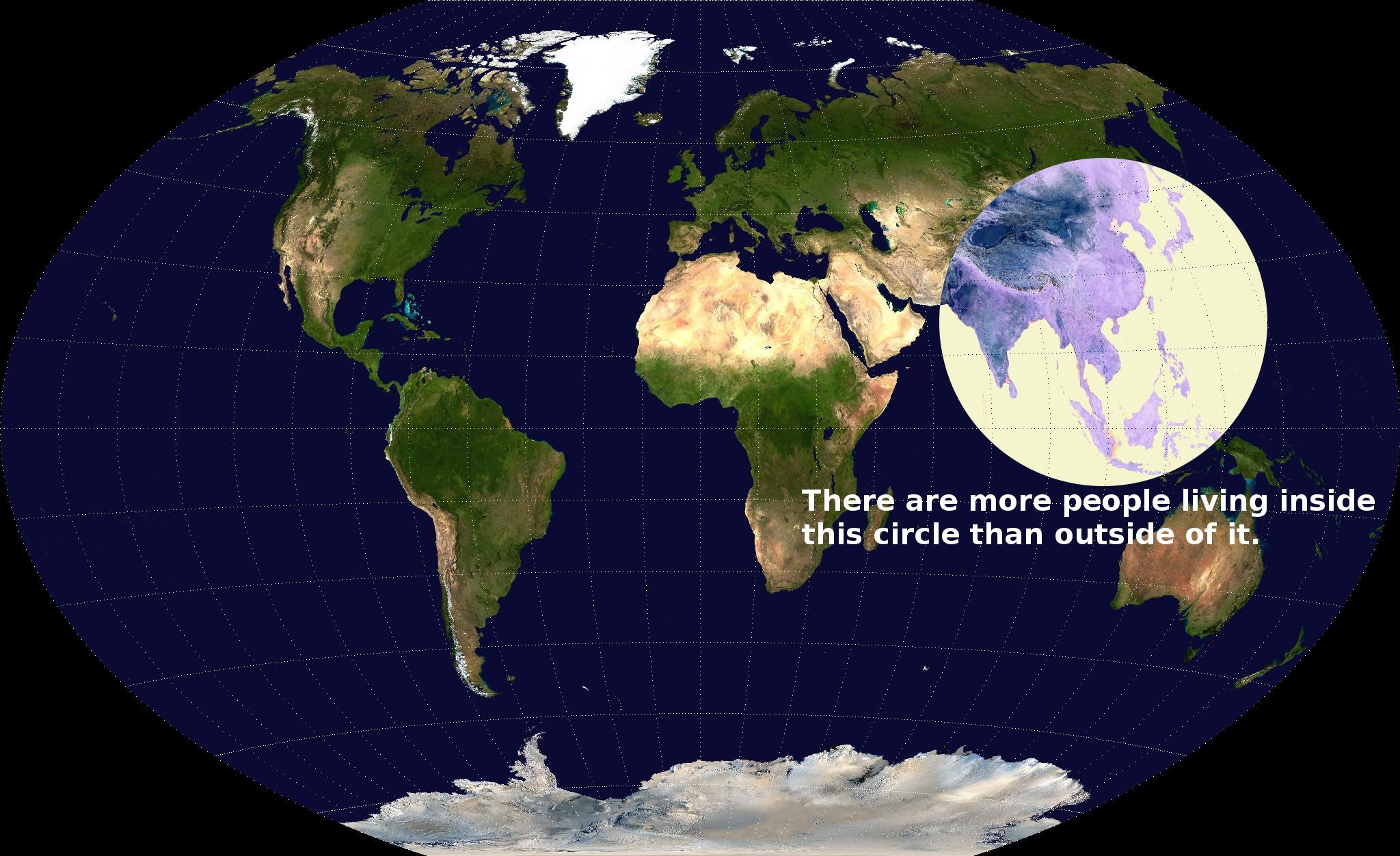 dünya nüfusunun en çok olduğu yer