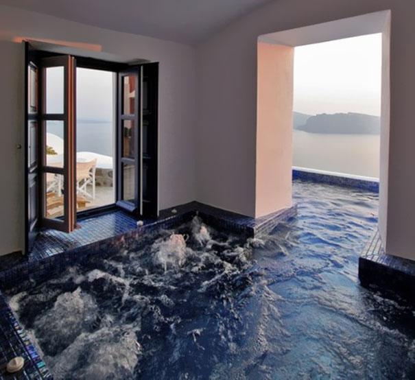 ev içinde havuz