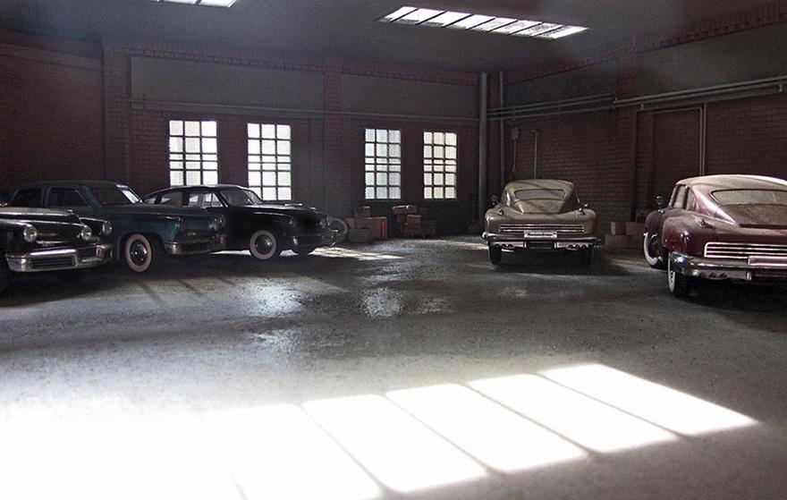 garaj klasik arabalar