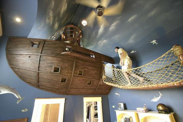 gemi şeklinde oda