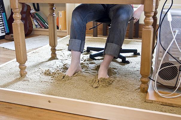 kumlu masa tasarımı
