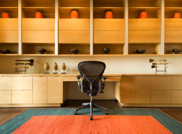 minimalist ev ofisi