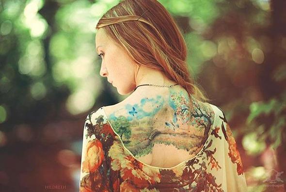 sulu-boya-sanati-kelebekler-bocekler