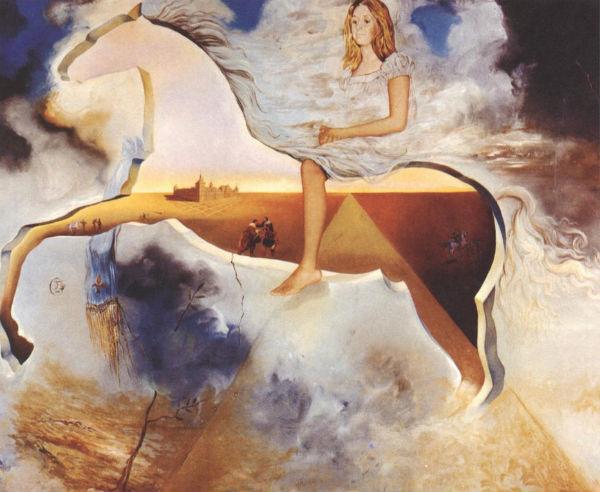 1974-Equestrian Portrait of Carmen Bordiu-Franco