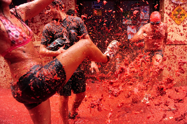 Domates festivali ispanya