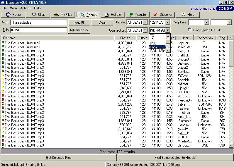 Napster-programi