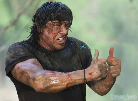 Rambo 3 thumbs up