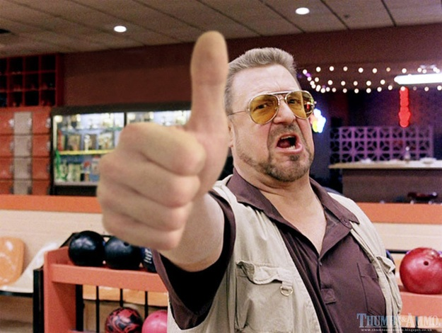 The Big Lebowski thums up
