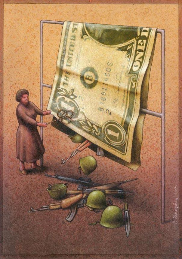 amerikan-dolarindan-dokulen-yasamlar-illustrasyon