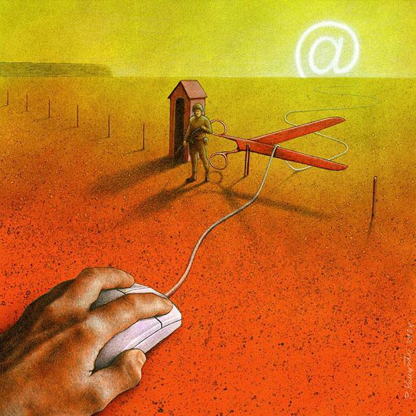 basa-bela-sosyal-medya-ve-internet-illustrasyon