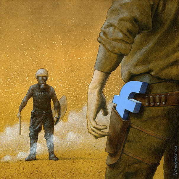 bonus-polise-karsi-sosyal-medya-illustrasyon