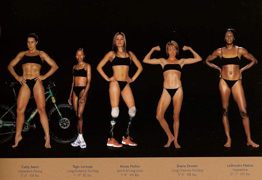 farklı sporcu bedenleri