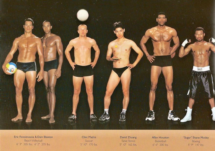 farklı sporcu vücutları