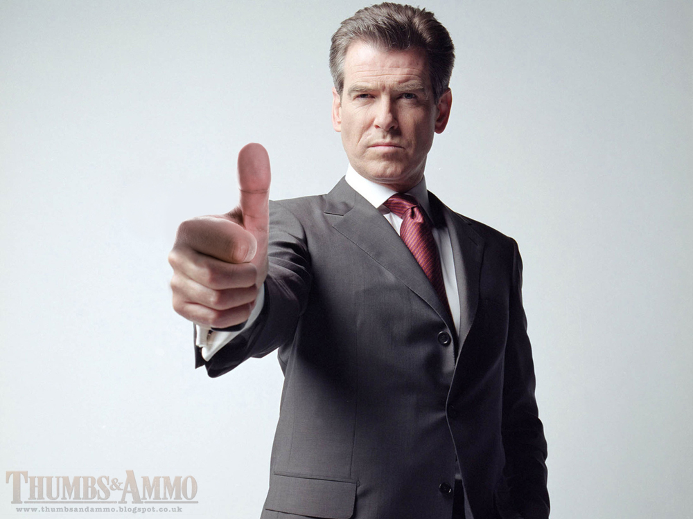 james bond thumbs up