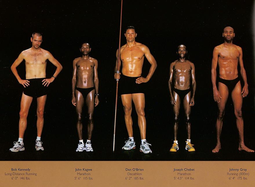 sporcuların bedenleri