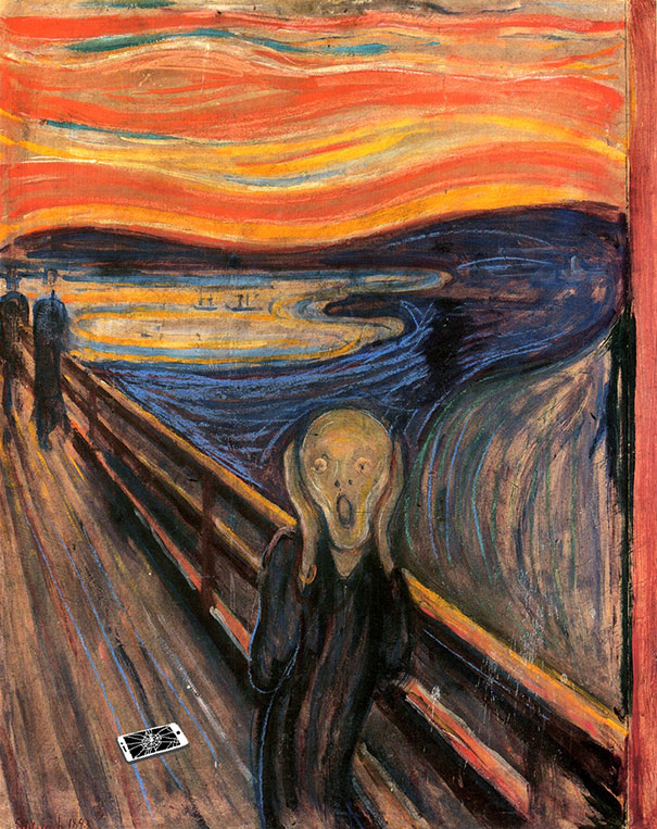 the-scream-edward-munch-apple
