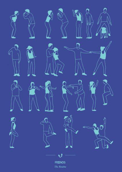 friends-dizi-dans-illustrasyon