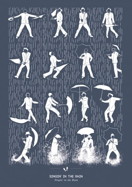 singing-in-the-rain-dans-illustrasyon