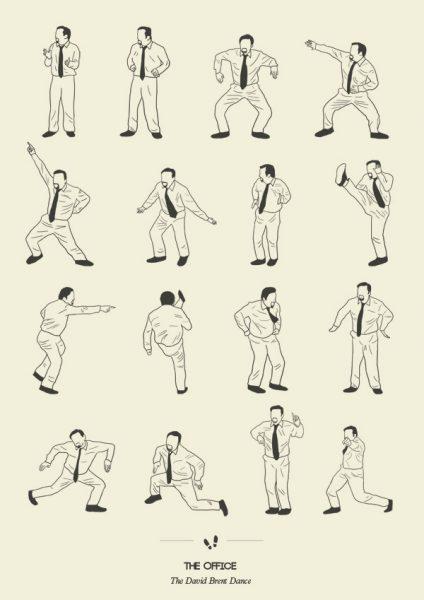 the-office-the-david-brent-dansi-illustrasyon