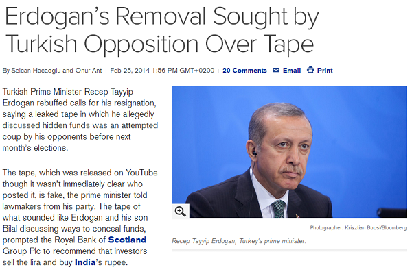 Erdogans Removal Sought by Turkish Opposition Over Tape  Bloomberg