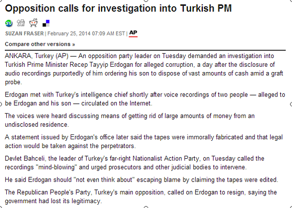 Opposition calls for investigation into Turkish PM