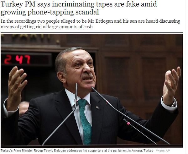 Turkey PM says incriminating tapes are fake amid growing phone tapping scandal   Telegraph