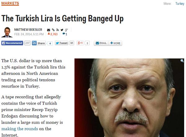 Turkish Lira Falls On Erdogan Tape News   Business Insider